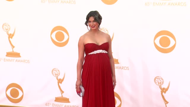 morena baccarin at the 65th annual primetime emmy awards arrivals in los angeles ca on 9/22/13 - annual primetime emmy awards stock-videos und b-roll-filmmaterial