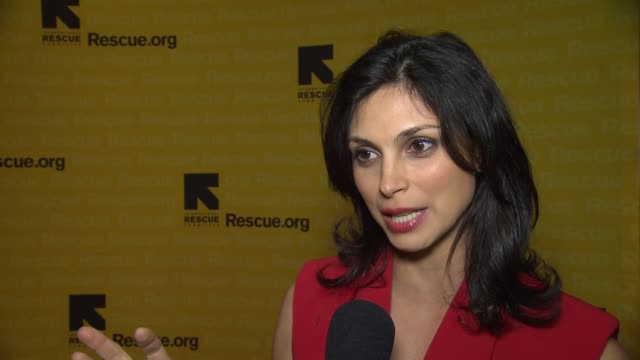 interview morena baccarin discusses her current work with irc how anyone can help or get involved with irc's work and what she would like to do with... - waldorf astoria new york stock videos & royalty-free footage