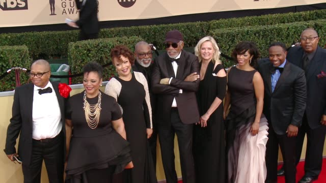 Morgan Freeman and family at the 24th Annual Screen Actors Guild Awards at The Shrine Auditorium on January 21 2018 in Los Angeles California