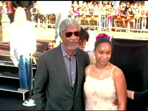 morgan freeman and grandaughter alexis at the batman begins premiere at grauman's chinese theatre in hollywood california on june 6 2005 - morgan freeman stock videos & royalty-free footage