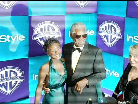 Morgan Freeman and guest at the In Style Magazine and Warner Brothers Studios 6th Annual Golden Globe Party at the Beverly Hilton in Beverly Hills...