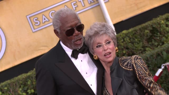 morgan freeman and rita moreno at 20th annual screen actors guild awards arrivals at the shrine auditorium on in los angeles california - morgan freeman stock videos & royalty-free footage