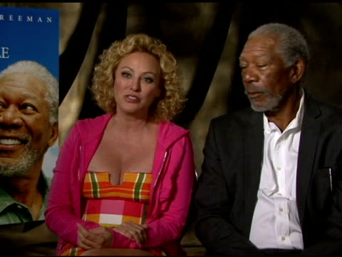 morgan freeman and virginia madsen on a magic place for them at 'the magic of belle isle' los angeles press junket interview morgan freeman and... - virginia madsen stock videos & royalty-free footage