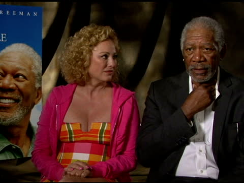 morgan freeman and virginia madsen on working together and on romantic chemistry in the film at 'the magic of belle isle' los angeles press junket... - virginia madsen stock videos & royalty-free footage