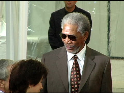 Morgan Freeman and wife at the Sherry Lansing Hand and Footprint Ceremony at Grauman's Chinese Theatre in Hollywood California on February 16 2005
