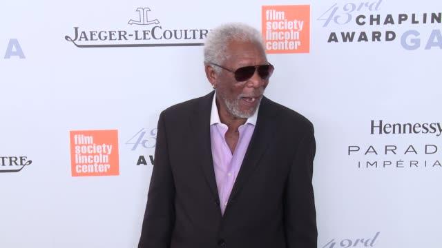 Morgan Freeman at 43rd Chaplin Award Gala Red Carpet at Alice Tully Hall Lincoln Center on April 25 2016 in New York City