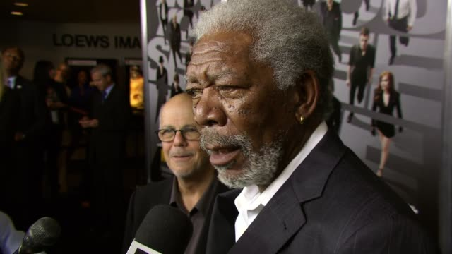 morgan freeman at now you see me new york premiere presented by summit entertainment at amc lincoln square theater on may 21 2013 in new york new york - morgan freeman stock videos & royalty-free footage