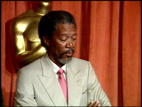 morgan freeman at the 1990 academy awards luncheon at the beverly hilton in beverly hills california on march 20 1990 - morgan freeman stock videos & royalty-free footage