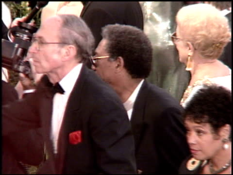 morgan freeman at the 1995 academy awards arrivals at the shrine auditorium in los angeles california on march 27 1995 - 67th annual academy awards stock videos & royalty-free footage