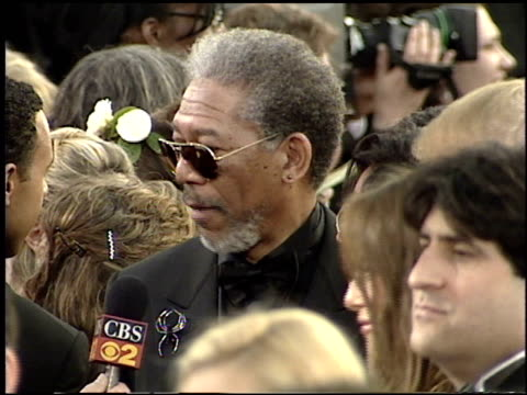 morgan freeman at the 2001 academy awards at the shrine auditorium in los angeles california on march 25 2001 - 73rd annual academy awards stock videos & royalty-free footage