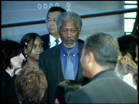 morgan freeman at the 'batman begins' press conference and premiere at roppongi hills in tokyo on may 31 2005 - roppongi hills stock videos and b-roll footage