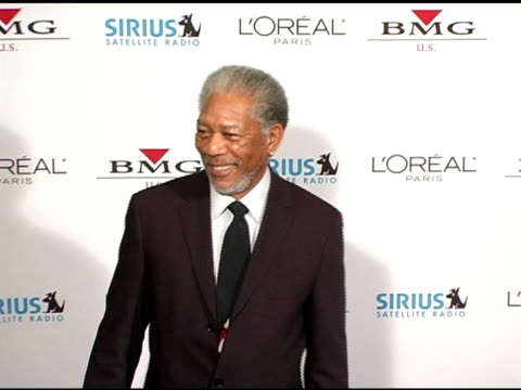 Morgan Freeman at the Clive Davis' 2005 PreGrammy Awards Party arrivals at the Beverly Hilton in Beverly Hills California on February 12 2005