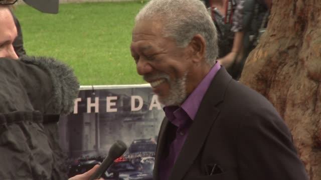 european premiere at leicester square on july 18 2012 in london england - morgan freeman stock videos & royalty-free footage