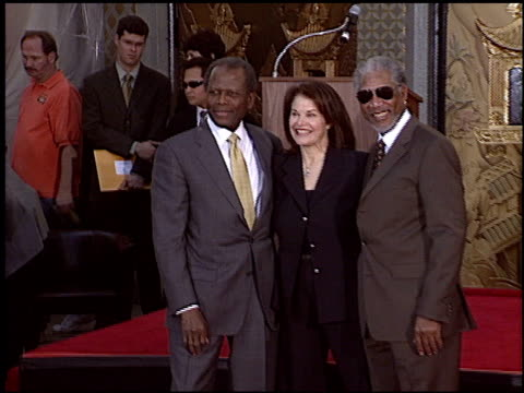 Morgan Freeman at the Dedication of Sherry Lansing's Footprints at Grauman's Chinese Theatre in Hollywood California on February 16 2005