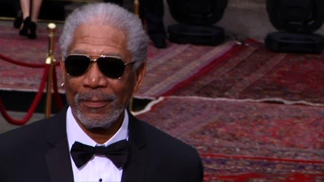 Morgan Freeman at the Dolce Gabbana 20 Years of Menswear Party Red Carpet Arrivals at Milan
