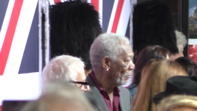 morgan freeman at the london has fallen premiere at arclight theatre in hollywood in celebrity sightings in los angeles - morgan freeman stock videos & royalty-free footage