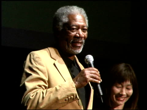 Morgan Freeman at the 'Million Dollar Baby' Press Conference and Premiere at Zepp Tokyo in Tokyo on May 26 2005