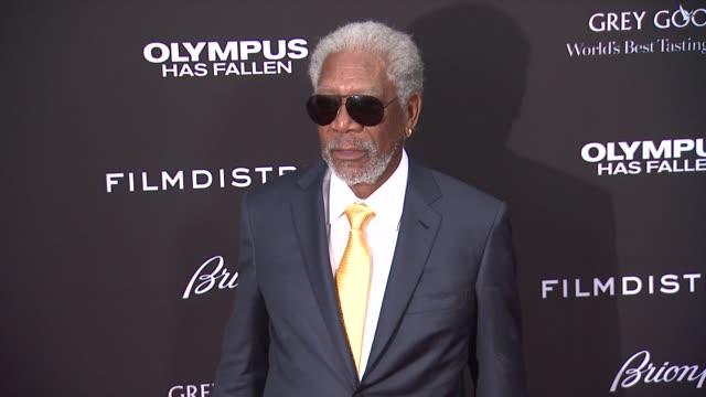 Morgan Freeman at the 'Olympus Has Fallen' Los Angeles Premiere Morgan Freeman at the 'Olympus Has Fallen' Los at The Dome at Arclight Hollywood on...