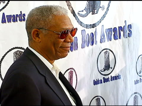 morgan freeman at the the motion picture and television fund's 24th golden boot awards at the beverly hilton in beverly hills california on august 12... - motion picture & television fund stock videos & royalty-free footage