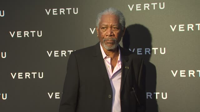 morgan freeman at the vertu's rodeo drive boutique grand opening at beverly hills ca - morgan freeman stock videos & royalty-free footage