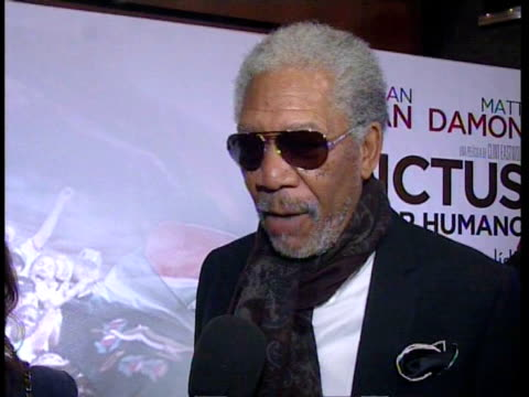 Morgan Freeman in the premiere of Invictus Madrid Spain
