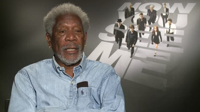 interview morgan freeman on he learned any magic tricks at the 'now you see me' press junket interview morgan freeman on he learned any magic at ritz... - morgan freeman stock videos & royalty-free footage