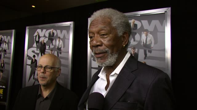 interview morgan freeman on why he wanted to do this filmwanting to work with the director again on sharing scenes with michael caine again the fun... - morgan freeman stock videos & royalty-free footage