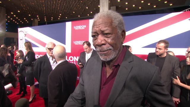 interview morgan freeman on why the scale of this movie is bigger why the characters are more bonded than ever and how director babak najafi... - cinerama dome hollywood stock videos and b-roll footage