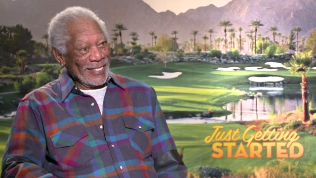 interview morgan freeman on working with the cast golf his character making the film at the 'just getting started' junket on december 04 2017 in los... - morgan freeman stock videos & royalty-free footage
