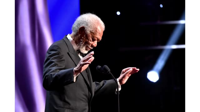 morgan freeman speaks onstage during the 51st naacp image awards, presented by bet, at pasadena civic auditorium on february 22, 2020 in pasadena,... - pasadena civic auditorium stock videos & royalty-free footage