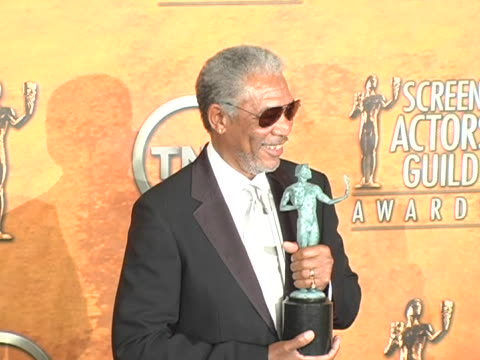 Morgan Freeman winner for Outstanding Male Actor in a Supporting Role for Million Dollar Baby at the The 11th Annual SAG Awards Photo Room at Shrine...