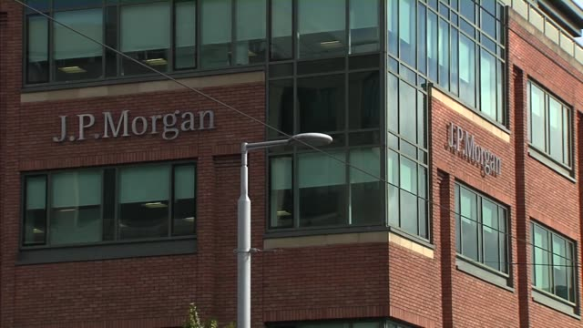 jp morgan offices in dublin ireland on friday september 22 photographer gary shore/bloomberg - bank stock videos & royalty-free footage
