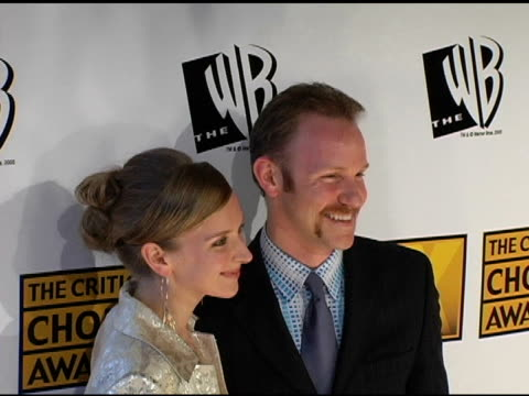 morgan spurlock and alex jamieson at the 2005 critics' choice awards at the wiltern theater in los angeles california on january 10 2005 - wiltern theatre stock videos and b-roll footage