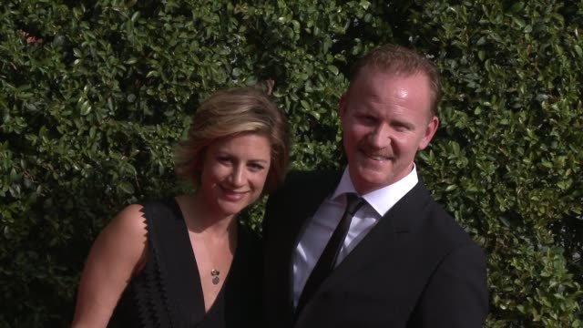 morgan spurlock at the 2015 creative arts emmy awards at microsoft theater on september 12 2015 in los angeles california - emmy awards stock-videos und b-roll-filmmaterial