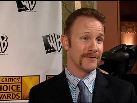 morgan spurlock on being nominated, on his influences, and on his future plans at the 2005 critics' choice awards interviews at the wiltern theater... - wiltern theater stock videos & royalty-free footage