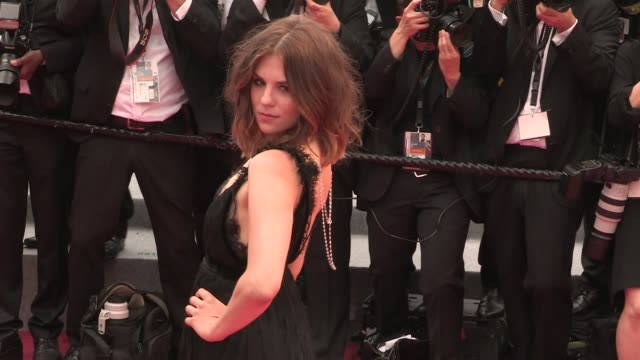 morgane polanski on the red carpet for the premiere of plaire aimer et courir vite at the cannes film festival 2018 thursday 10 may 2018 cannes france - 71st international cannes film festival stock videos & royalty-free footage