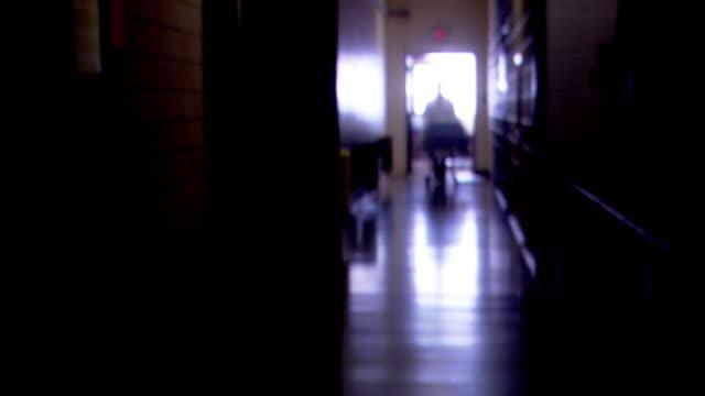 morgue corridor - död koncept bildbanksvideor och videomaterial från bakom kulisserna