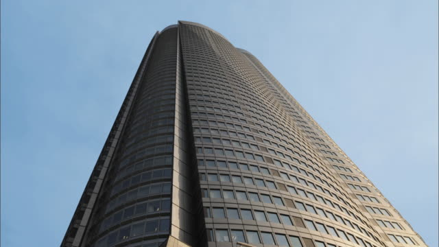 ms la mori tower against clear sky, roppongi hills, tokyo, japan - roppongi hills stock videos and b-roll footage