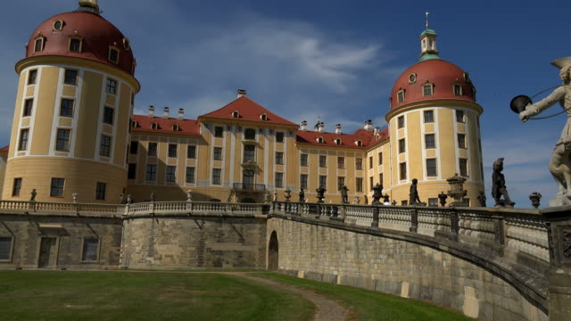 moritzburg castle near dresden, saxony, germany - dome stock videos & royalty-free footage