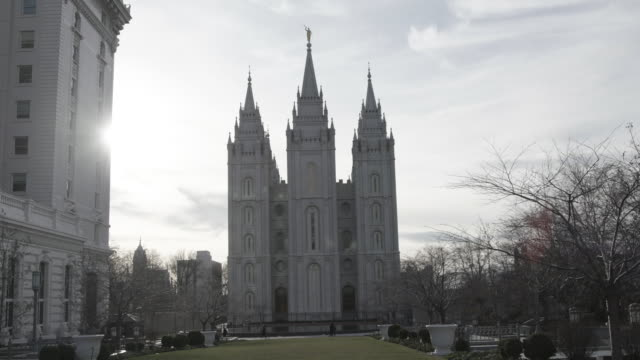 Mormon Temple in Salt Lake City, wide shot
