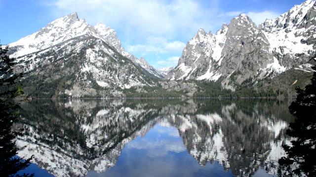 morning at jenny lake in teton national park, wyoming - may stock videos & royalty-free footage
