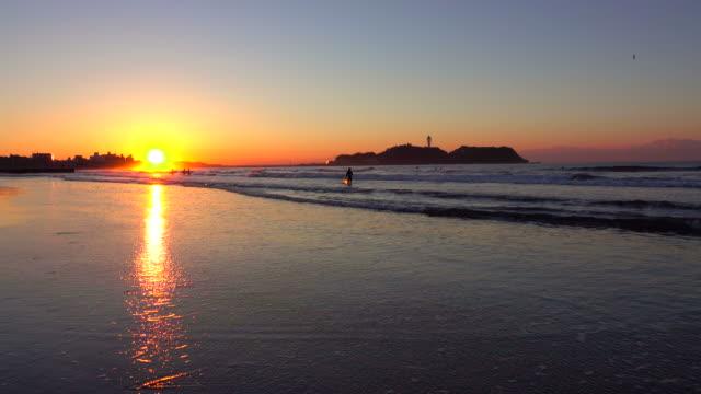 Morning beach - surfer