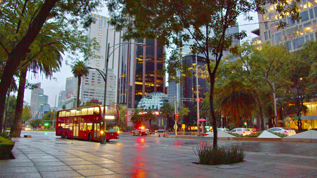morning bus. mexico city business downtown - editorial stock videos & royalty-free footage