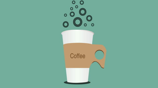 Morning Coffee animated Illustration, video animation