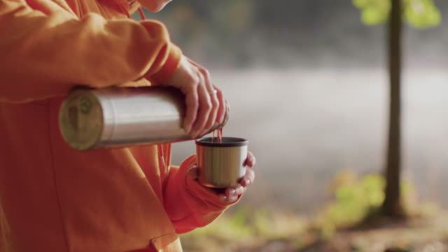 morning coffee outdoors - sweden stock videos & royalty-free footage