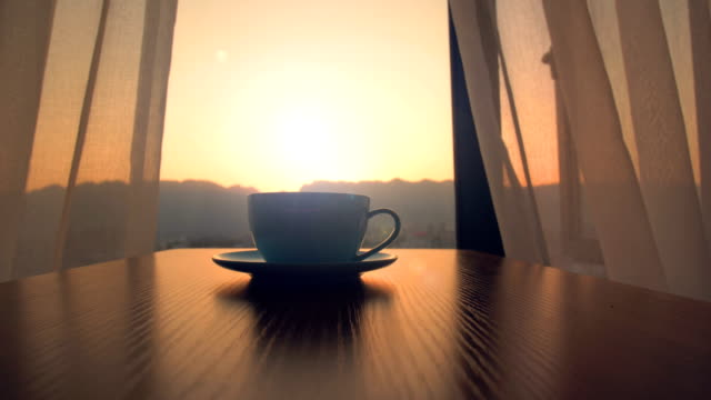morning coffee time - sunrise dawn stock videos & royalty-free footage