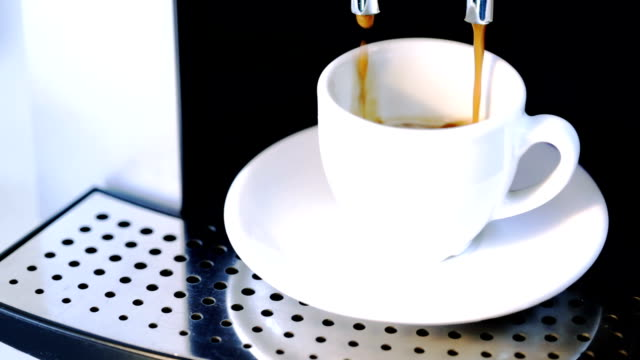 morning coffee - cafe macchiato stock videos and b-roll footage