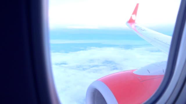 Ochtend dag reizen op vliegtuig venster
