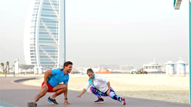Morning exercise in Dubai