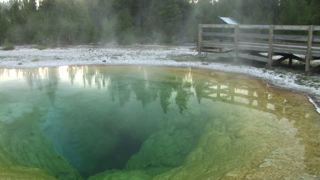 MS, Morning Glory Pool, Upper Geyser Basin, Yellowstone National Park, Wyoming, USA
